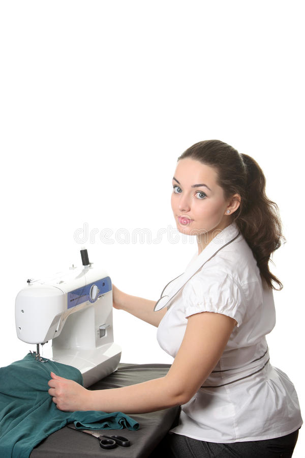 seamstress μηχανών ράβοντας εργασί&alpha στοκ εικόνες με δικαίωμα ελεύθερης χρήσης