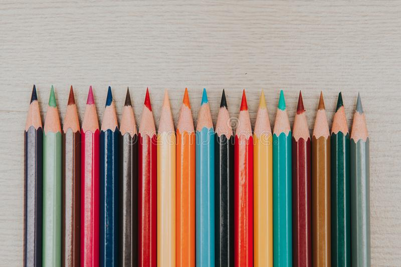 Sean The Coloring Pencils 5 stock image