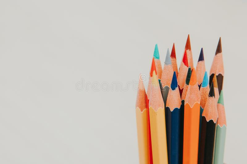 Sean The Coloring Pencils 1 royalty free stock photo