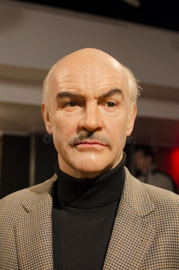 Sean connery. In the famous wax museum Madame tussauds london, england stock photography
