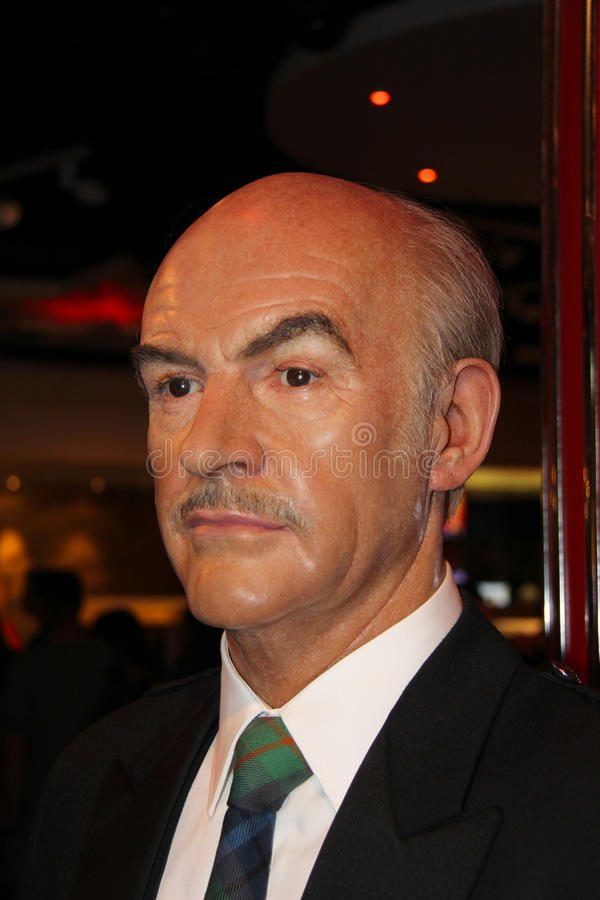 Sean Connery. London, - United Kingdom, 08, July 2014. Madame Tussauds in London. Waxwork statue of Sean Connery. Created by Madam Tussauds in 1884, Madam stock photo
