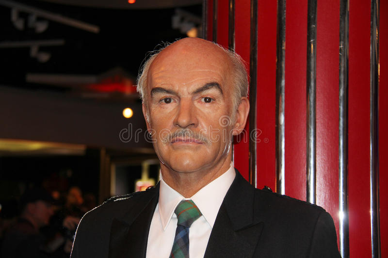 Sean Connery. London, - United Kingdom, 08, July 2014. Madame Tussauds in London. Waxwork statue of Sean Connery. Created by Madam Tussauds in 1884, Madam stock photos
