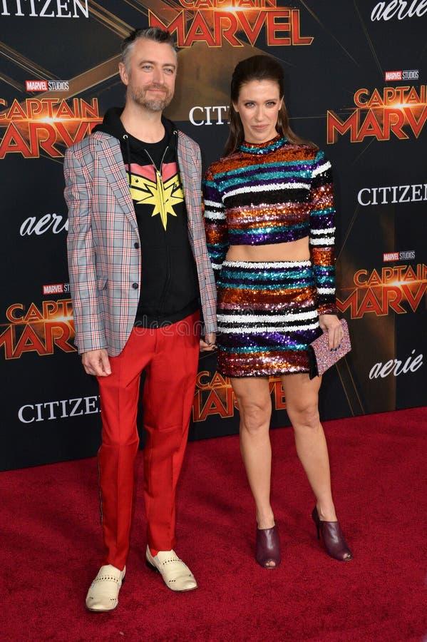 Sean Gunn & Natasha Halevi royalty-vrije stock afbeelding