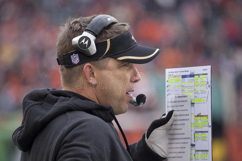 Download Sean Payton Calls In The Play Editorial Photography - Image: 17415987