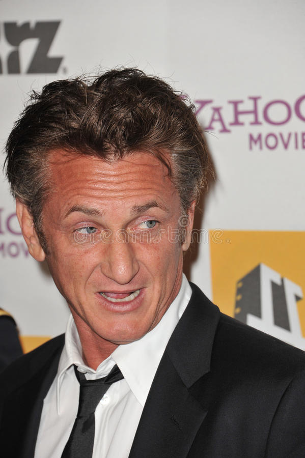 Download Sean Penn editorial stock image. Image of 14th, awards - 26491134