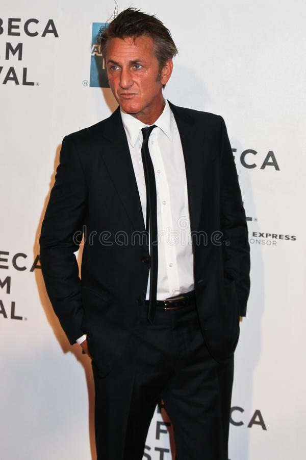 Sean Penn em New York City fotos de stock royalty free