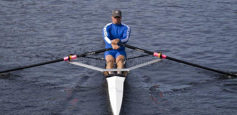 Sean Schulich des Pelham Gemeinschaftsrudersports Assoc stockbild