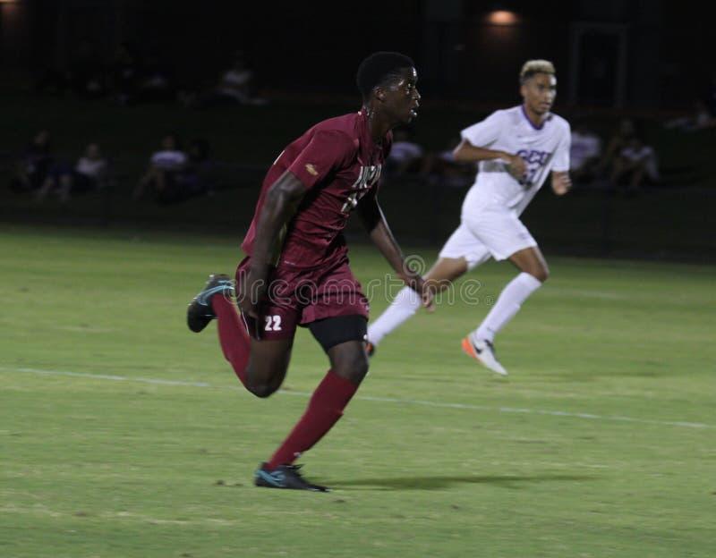 Sean Siasia. Forward for IUPUI at GCU Stadium in Phoenix Arizona USA 9,15,16 stock image
