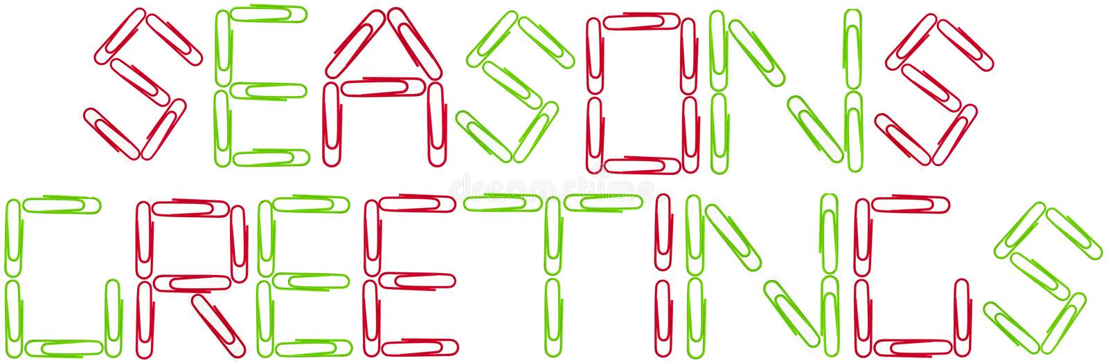 Download Seanson's Greetings Red And Green Paper Clips Stock Image - Image: 11416233