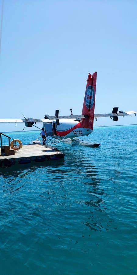 Seaplan maldives stock fotografie