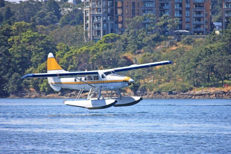 Seaplane προσγείωση στοκ φωτογραφίες με δικαίωμα ελεύθερης χρήσης