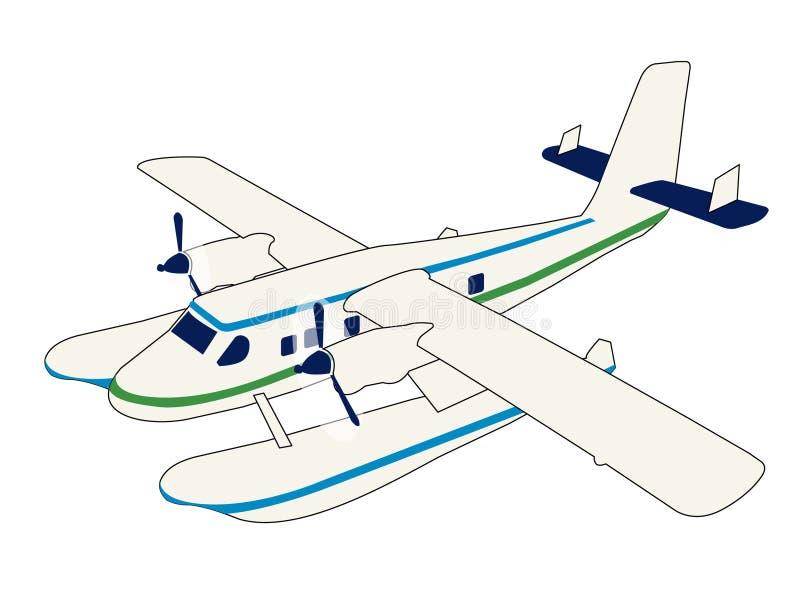 seaplane vektor illustrationer