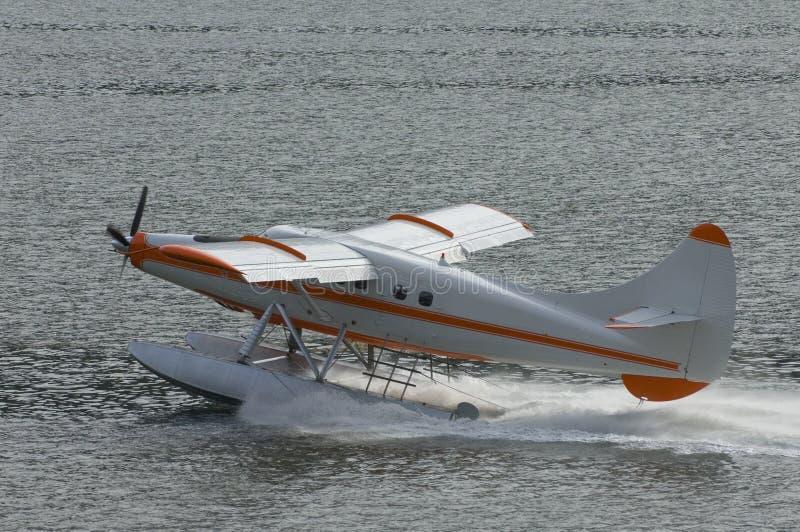 Seaplane di Skagway sull'Alaska all'interno del passaggio immagini stock