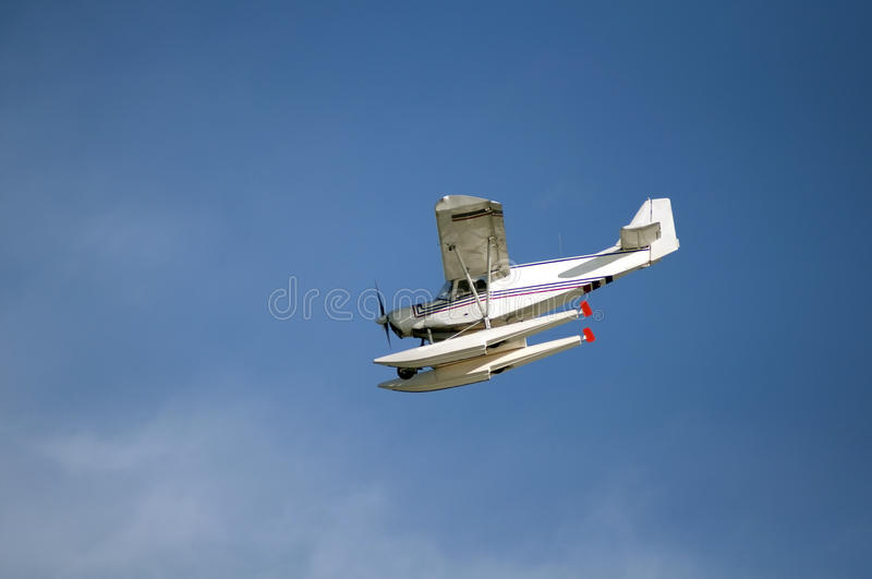Download Seaplane flying stock image. Image of clouds, transportation - 12455675
