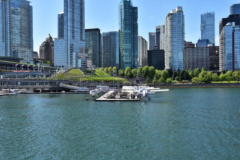 Seaplane port view from cruise ship. 