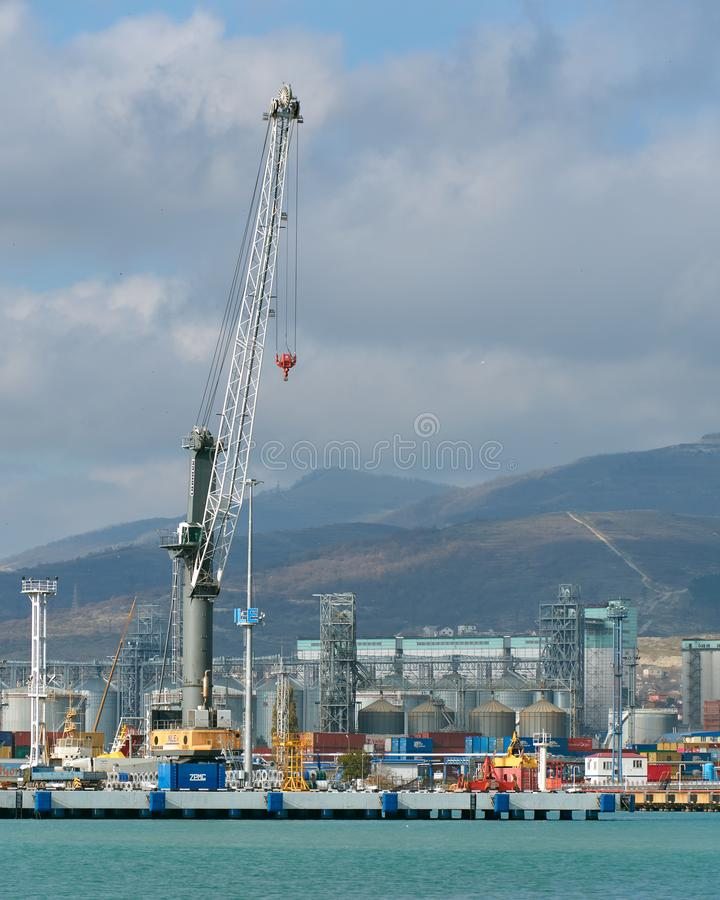 seaport royaltyfri bild