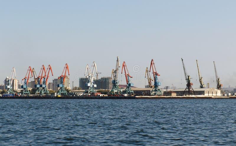 seaport baku för caspian hav fotografering för bildbyråer