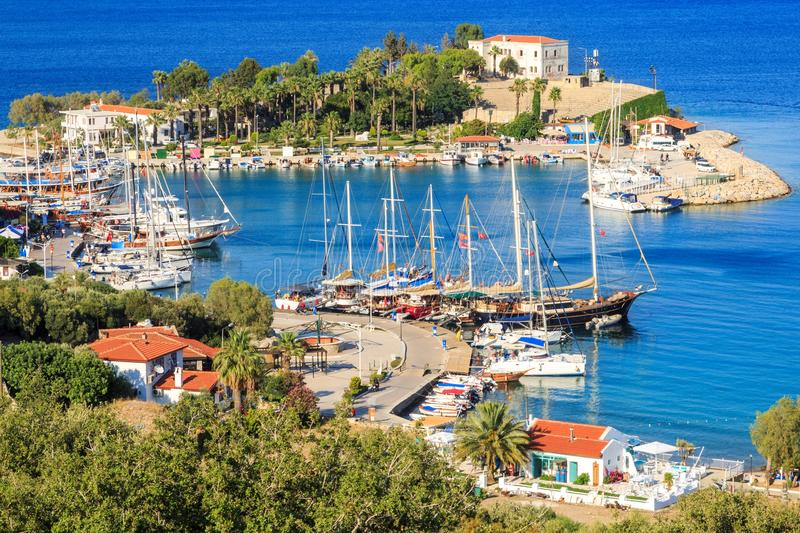 Seaport of Datca during the daytime in Mugla, Turkey. During daytime royalty free stock photos