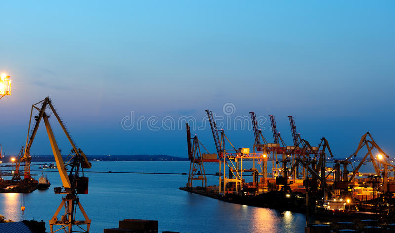 Download Seaport At The Night Royalty Free Stock Photography - Image: 17759487