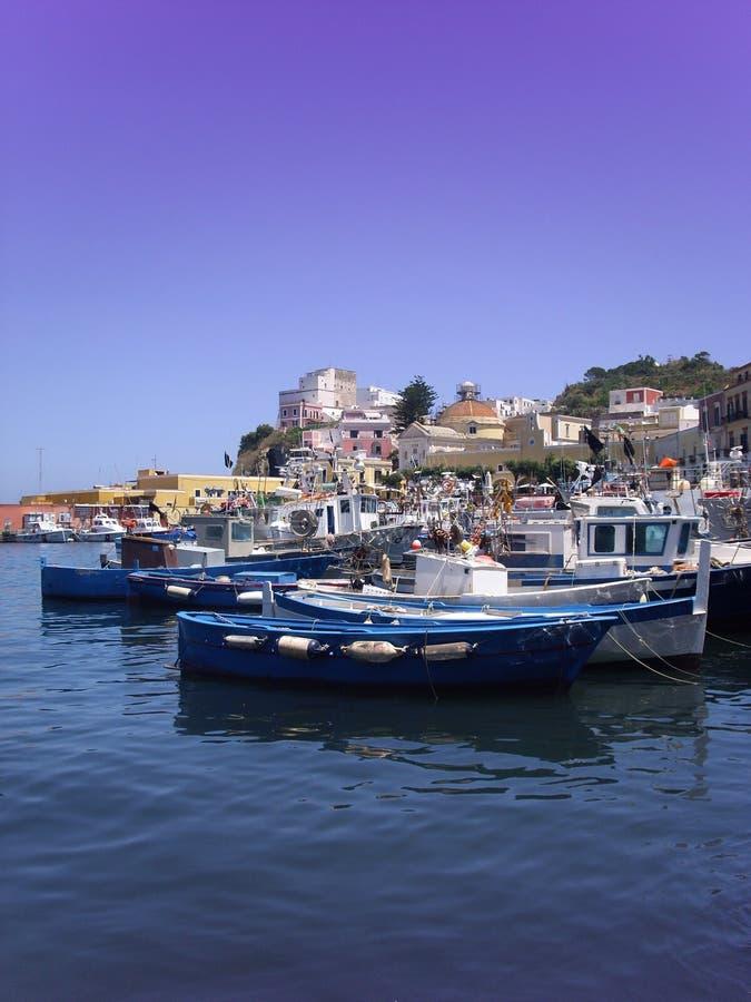Seaport in Ponza island stock photos