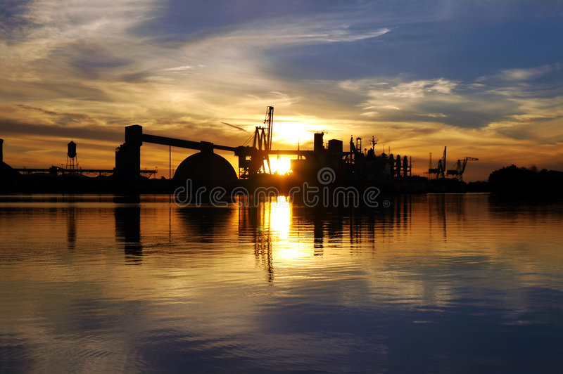 Download Seaport Ship Reflection stock photo. Image of transportation - 2300924