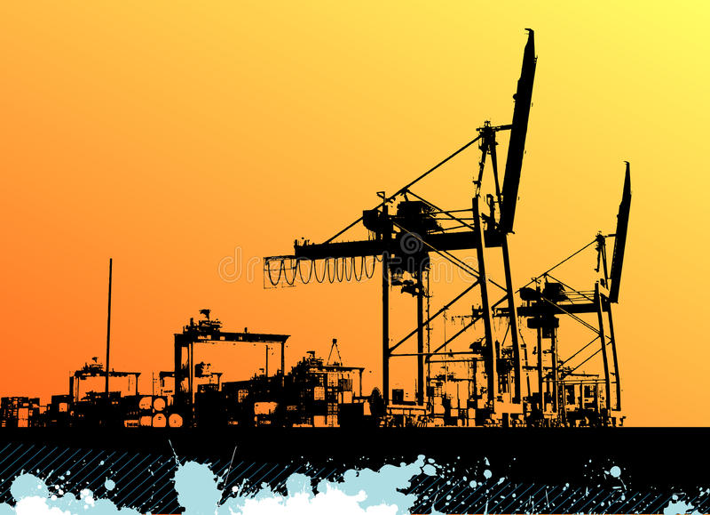Seaport vector stock illustration