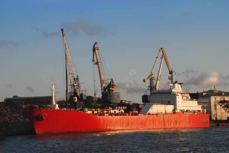 seaport vladivostok royaltyfri fotografi