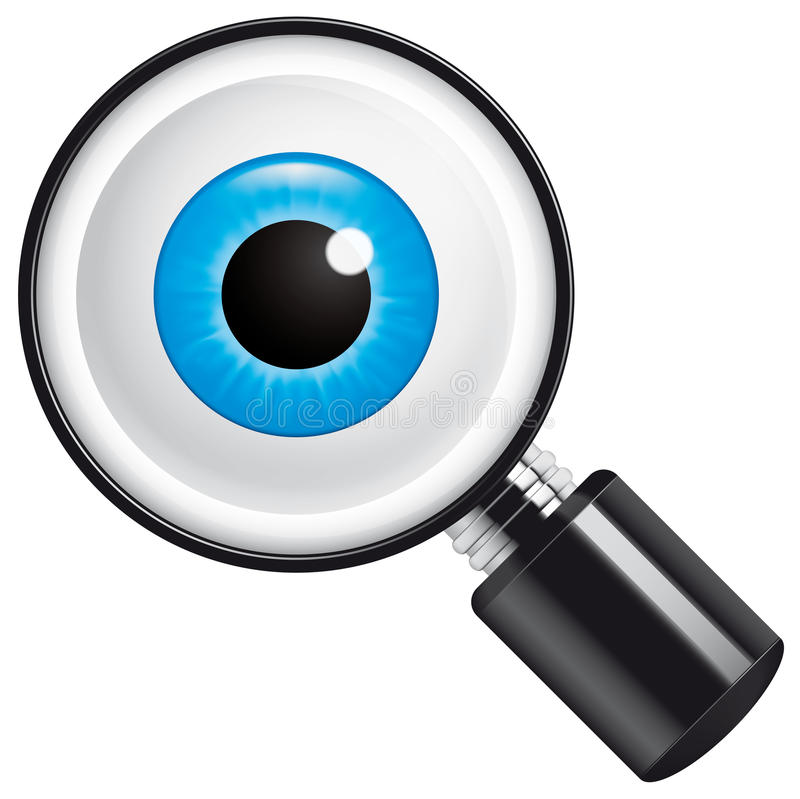 Download Search stock vector. Image of magnifying, view, retina - 26001711