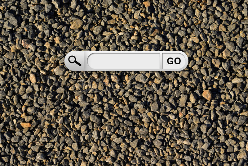 Search bar in browser. The gray chippings on background royalty free stock photography