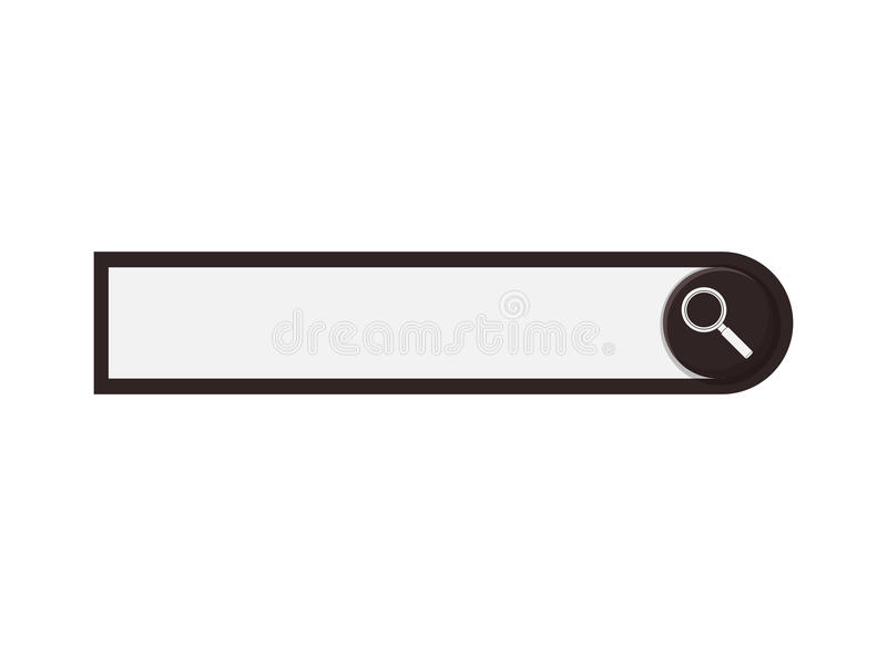 Search Bar Icon Stock Vector. Illustration Of Magnify