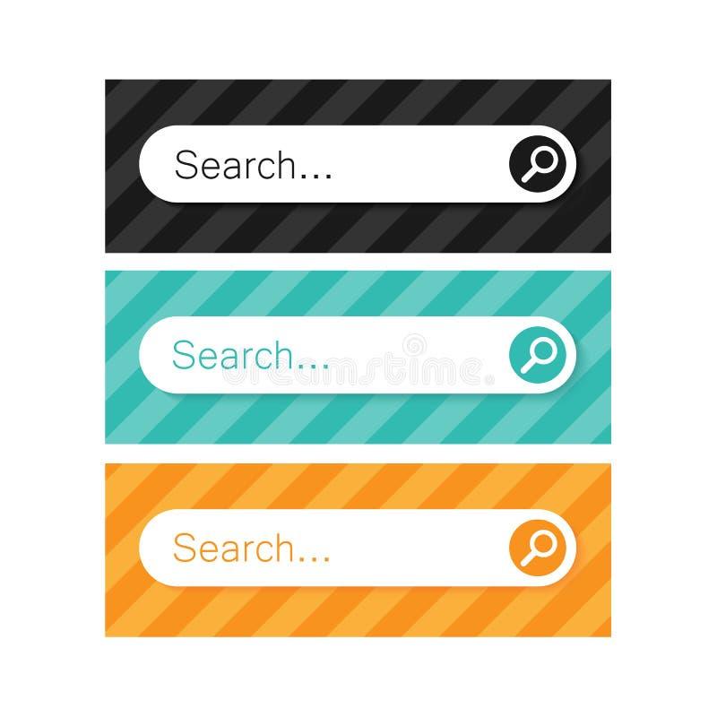 Search bar vector element design. Background stock illustration