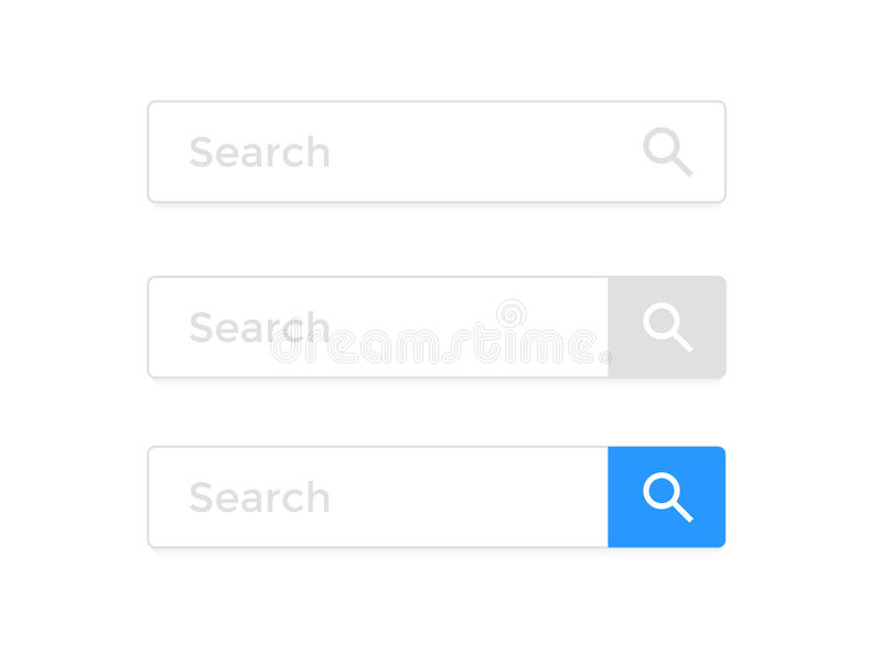 Search Bar Web Page Internet Browser Element Vector Icons