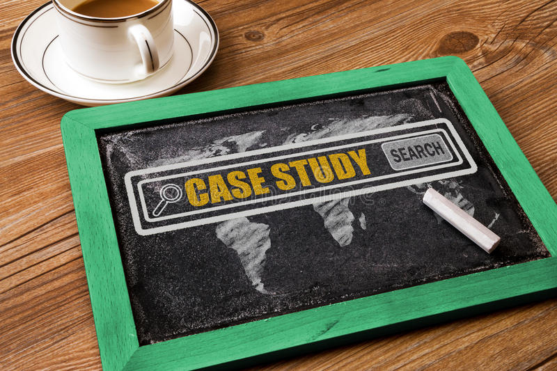 Search for case study concept stock photo