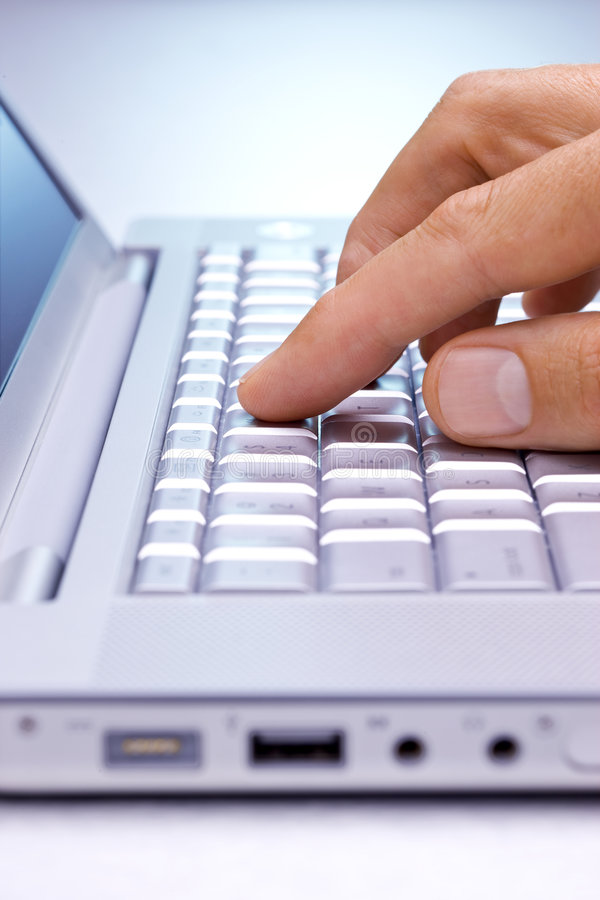 Search Computer Keys Hand royalty free stock images
