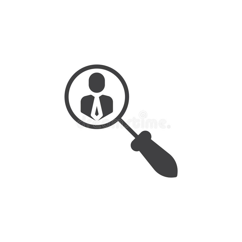 Search for employees vector icon royalty free illustration