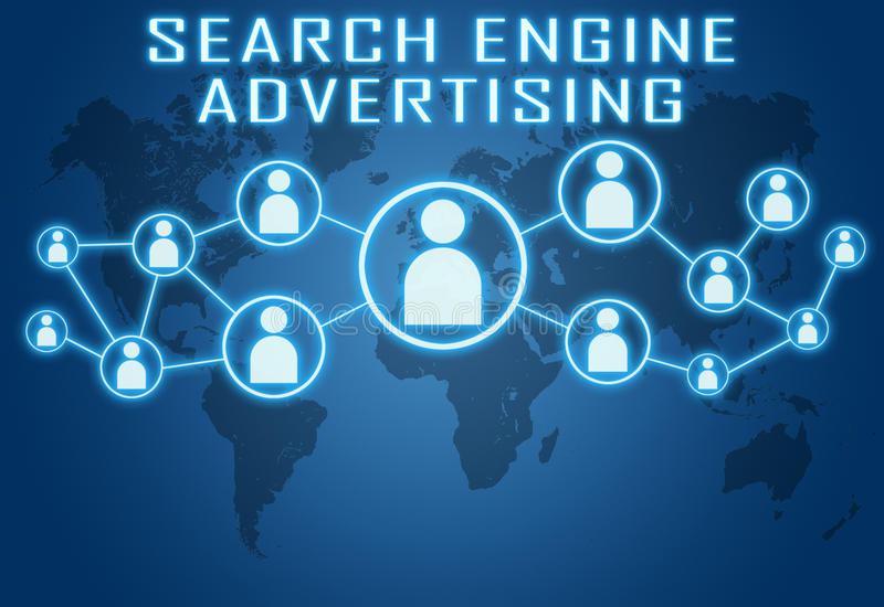 Search Engine Advertising vector illustration