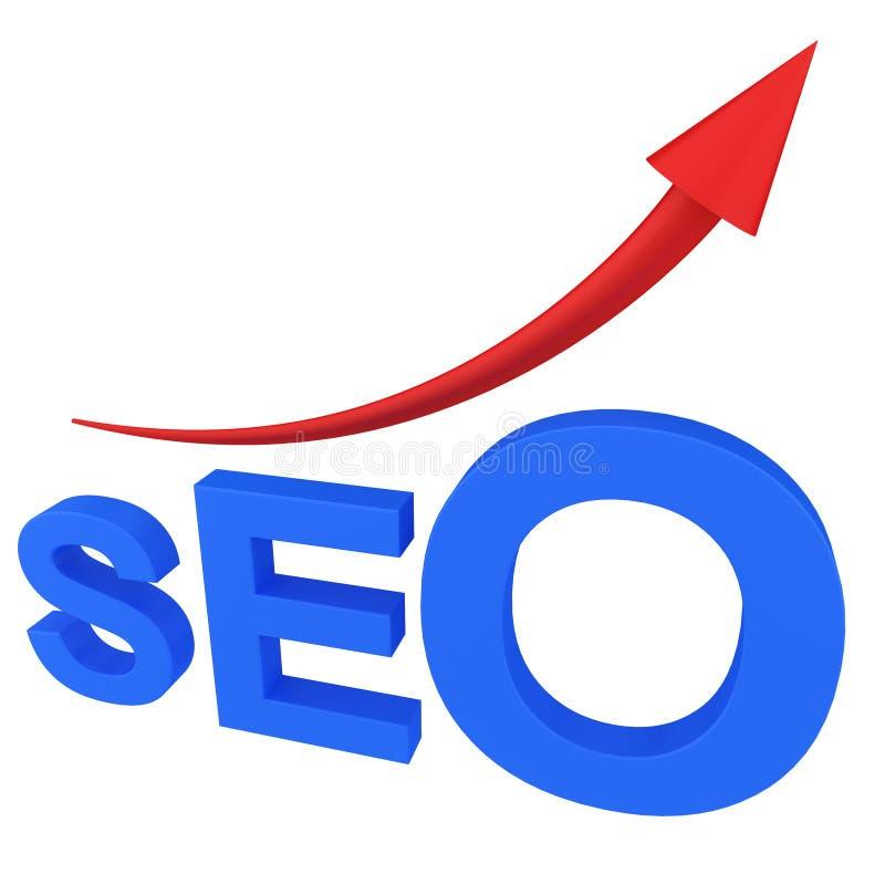 Search Engine de SEO con la flecha ilustración del vector