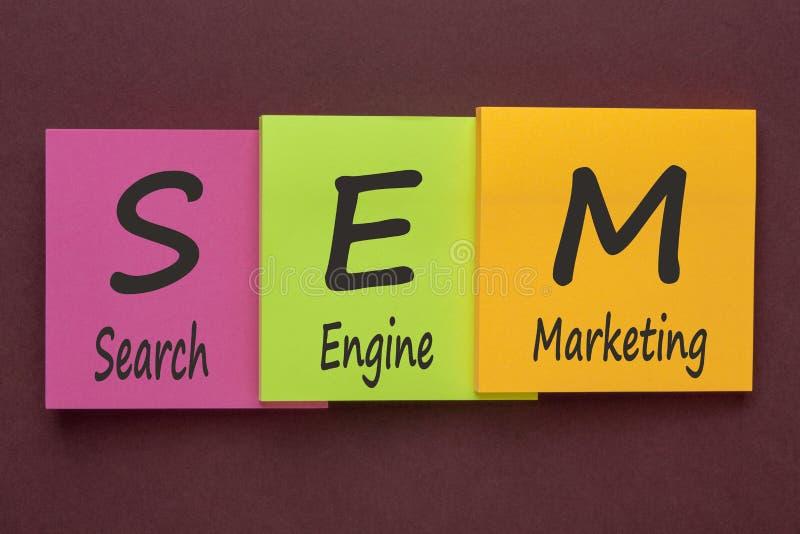 Search Engine Marketing Аcronym Concept stock photography