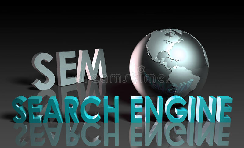 Download Search Engine Marketing stock illustration. Image of results - 14503512