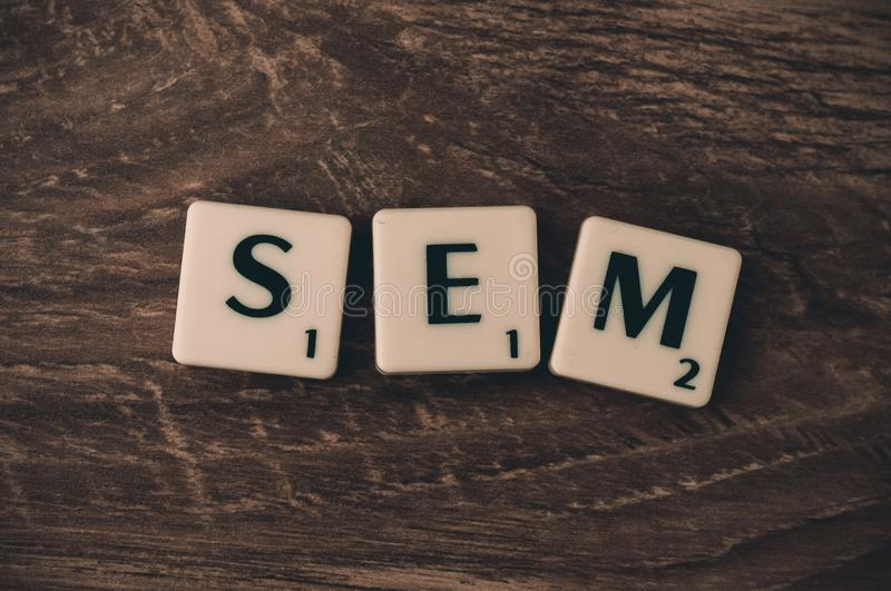 Search engine marketing sign
