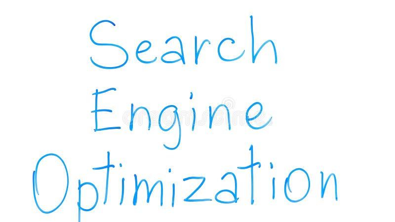 Search engine optimization phrase written on glass, internet marketing strategy. Stock photo royalty free stock photography