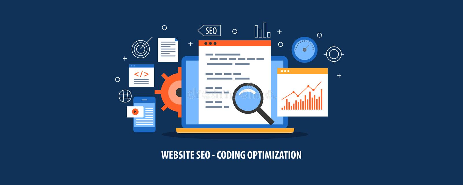 Seo Meta Tag Optimization Website Optimization For Better Search Ranking And Visibility Concept Flat Design Vector Banner Stock Vector Illustration Of Design Visibility 124115905
