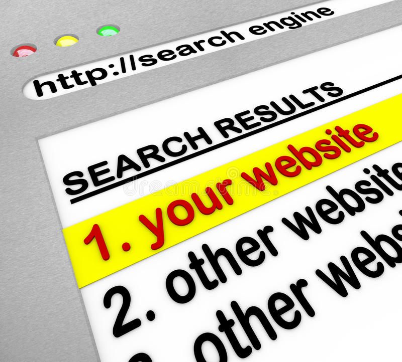 Search Engine Results - Your Site Number One royalty free illustration
