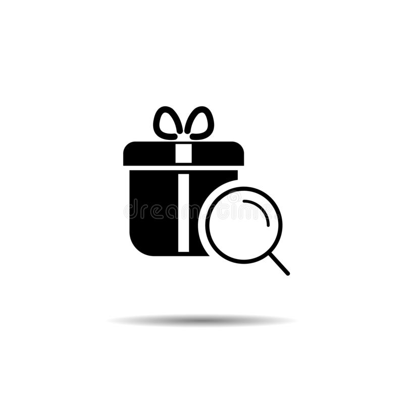 search for a gift. surprise search concept vector illustration