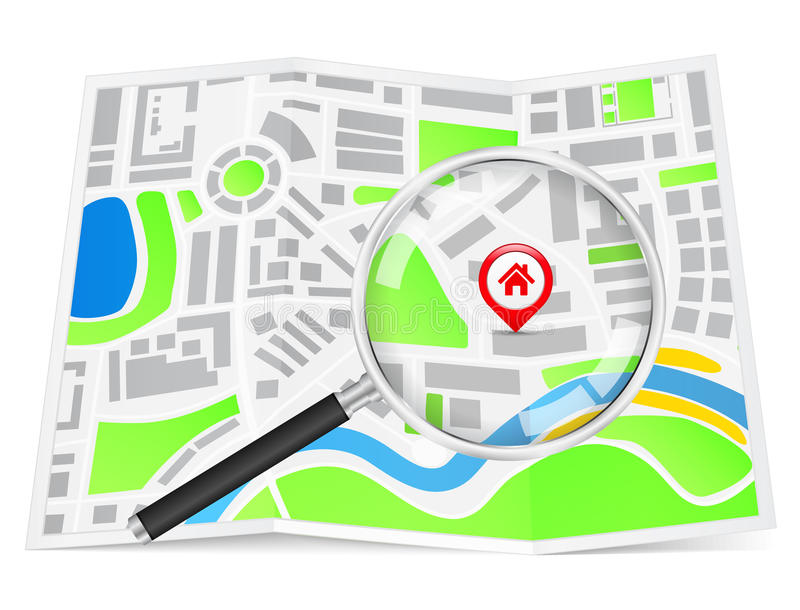 Search for house royalty free illustration