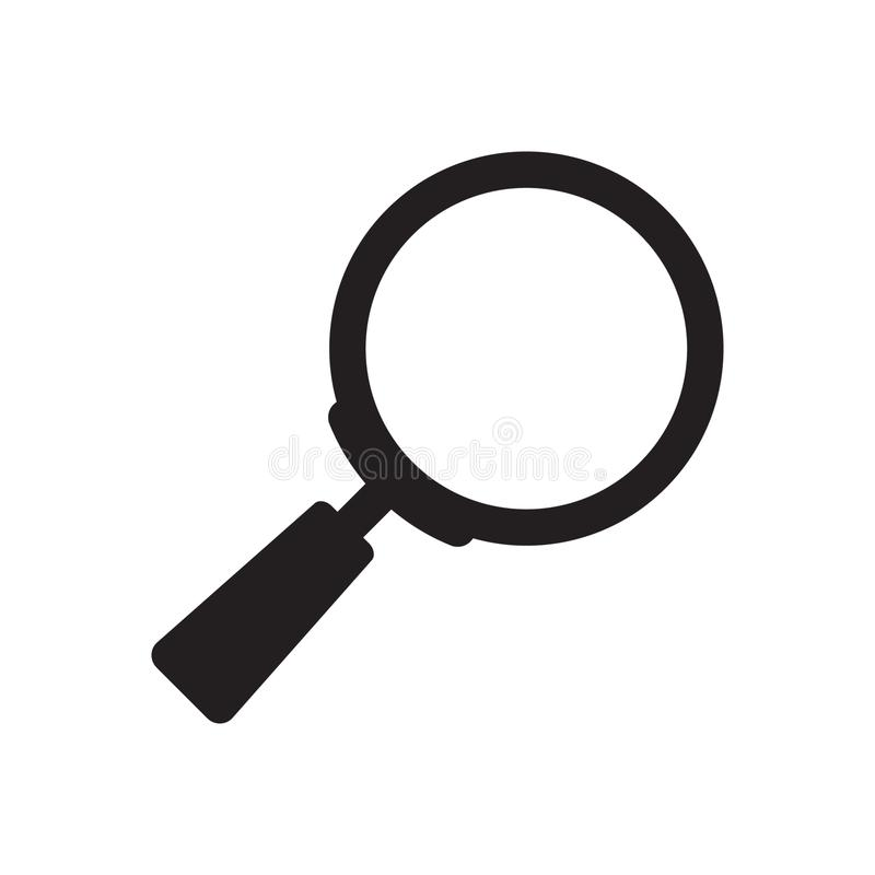 Search icon. Magnifying glass icon, vector magnifier or loupe sign. Vector illustration isolated on white background vector illustration