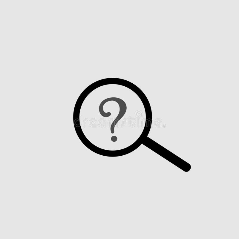 Search icon vector art design. Isolated stock illustration