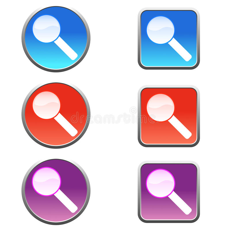 Search icons vector illustration