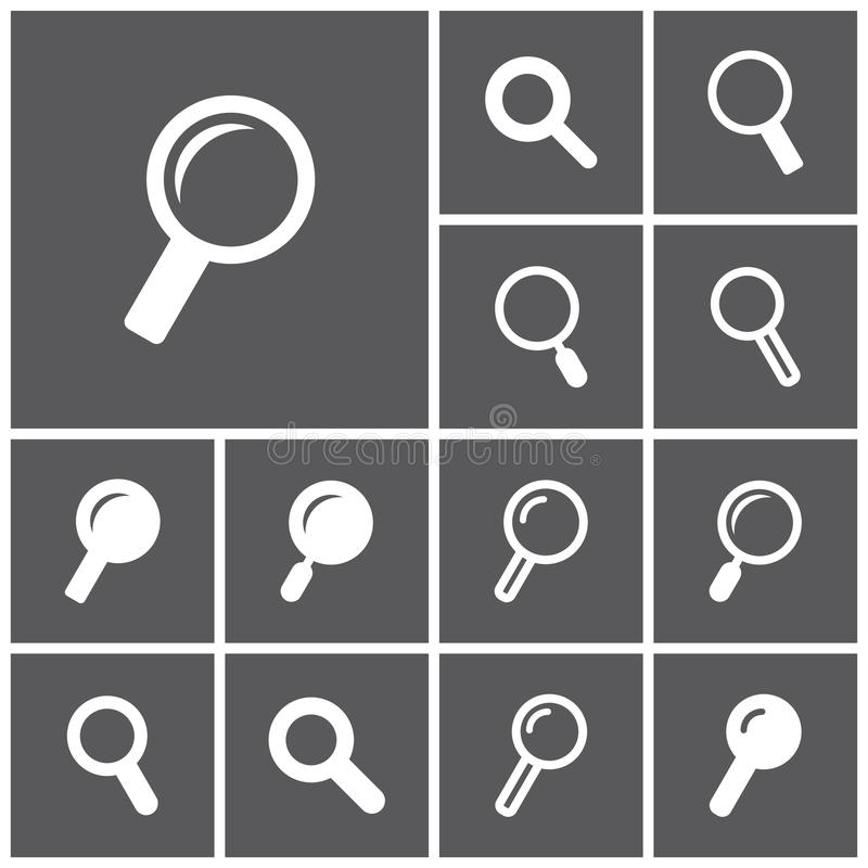 Search icons stock illustration