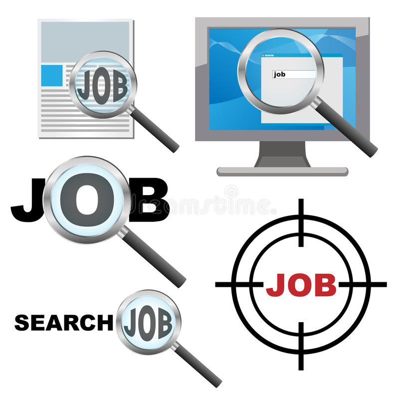 Search for job conept stock illustration